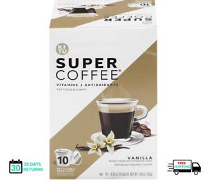Kitu Supper Coffee Vitamins  Antioxidants Vanilla For Your Keurig Brewer 10 pods