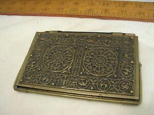 Vintage Ornate Brass Asian Ornate Notebook Case Repousse Tablet Holder