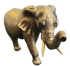 More details for bronzed elephant figurine ornament by leonardo bnib elephant statue lp98