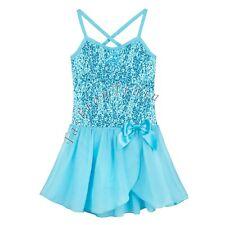 Toddler Kids Girls Gymnastics Ballet Dress Leotard Tutu Skirt Dance wear Clothes