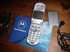 MOTOROLA STARTAC V150 SILVER GSM ORIGINALE UNICO+ ACCESSORI ORIGINALI E BAT.ORIG