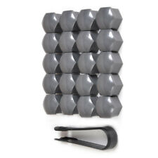 20pcs 17mm Vehicle Car Wheel Lug Bolt Nut Covers Caps + Removal Tool For Audi