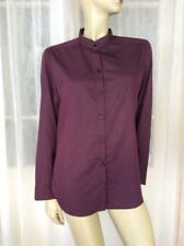 NEW SIZE 10 CATCHLOVE COLLECTIVE PURPLE STRIPED BUTTON DOWN SHIRT BLOUSE $150 🍨