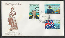 NORFOLK IS 1978 CAPTAIN COOK Discovery Hawaii Set 3v FDC