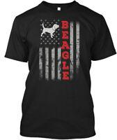Beagle Us Flag J Hanes Tagless Tee T-Shirt