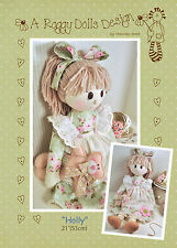 HOLLY - Rag Doll Sewing Craft PATTERN - Primitive Prim Shabby Chic