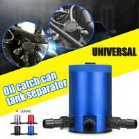 3-Port Oil Catch Can Tank Reservoir Air-Oil Separator Racing Baffled
