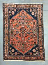 Antique Used Old Wool&cotton Handmade Persian Malayer Rug,Size:115cm By 85cm