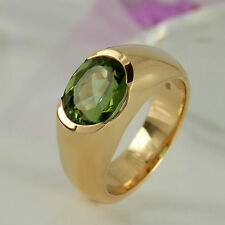 Handgefertigt Echte Edelstein-Ringe mit Turmalin