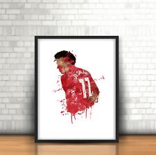 Mohamed Salah - Liverpool Inspired Football Art Print Design The Reds Number 11