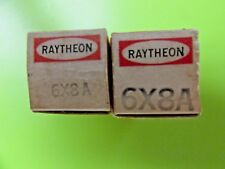 6X8A - (2) RAYTHEON TUBES. MATCHED PAIR, SAME CODE DATE, SOLD AS ONE (1) LOT.