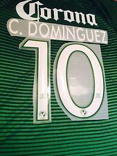 Club America 3rd Green Soccer Jersey Name Set Nombre y Numero C. Dominguez #10