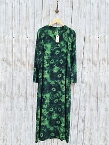 Nil. Maxi Green & Black Print Dress - Size: M / Was Selling At Anthropologie