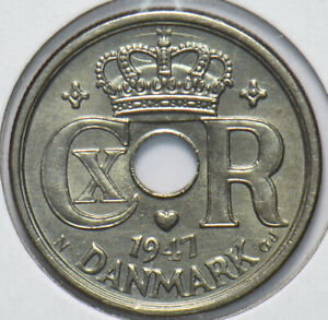 Denmark 1947 25 Ore 192500 combine shipping