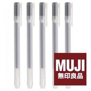 MUJI MoMA Gel Ink Ballpoint Pen 0.7mm BLACK x 5 Made in JAPAN FREE SHIPPING