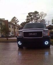 White Halo Fog Lamps Driving Light Kit for 2007-2013 GMC Sierra 1500 & Denali