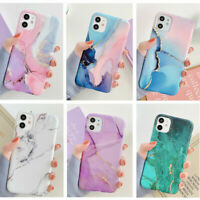 Watercolor Marble Soft Rubber Case Cover For iPhone 11 Pro Max XS Max XR 8 7 SE2