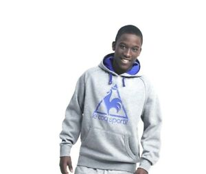BNWT Le Coq Sportif Hoodie Top In Grey Size 6/7 Yrs SMALL