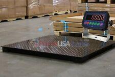 "7,000 lb Capacity 1 lb Accuracy 4'x4' Floor Pallet Scale Industrial 48"" X 48"""