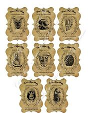Halloween steampunk apothecary bottle stickers set of 8 scrapbooking crafts