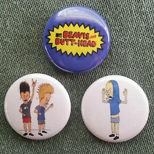 "3 1"" Beavis and Butthead MTV 90s Cornholio - pinback badges buttons"