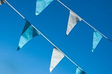 Baby Shower Bunting Light Blue and White Alternating Flags Birthday 10 Metres