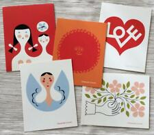 5 Alexander Girard Note Cards Greeting Love Heart Angel Sun Madonna Flower Art