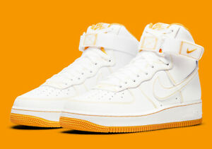 Nike Air Force 1 High '07 White University Gold CV1753-107 Men's Shoes NEW