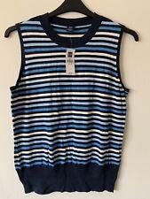 Fine Knit GAP Sweater Vest Blue Striped BNWT
