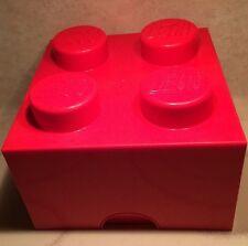 #4003 Red LEGO Brick Storage Container-2010- COOL Kids Lego Organization Decor