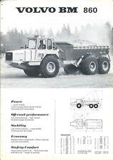 Equipment Brochure - Volvo BM - 860 - Dump Truck - Rock Mining - c1976 (E4837)