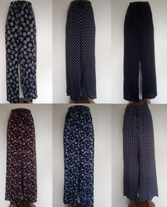NEW LADIES WOMENS FLORAL POLKA PALAZZO WIDE LEG SUMMER TROUSERS PLUS SIZE 12-22