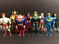 "DC COMICS JUSTICE LEAGUE UNLIMITED LOT OF 8 3.75"" ACTION FIGURES JLU SUPERGIRL"