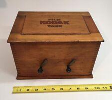 Extremely Rare Large Antique Wood Eastman Kodak Developing Tank