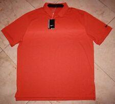 NWT Men's NIKE Golf Dri-Fit Standard-Fit Transition Print Polo Orange - XL