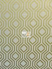 SANTANA GEOMETRIC DIAMOND UPHOLSTERY FABRIC - Gold - BY YARD SOFA DRAPERY CHAIRS