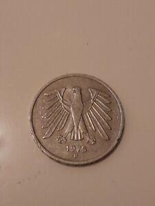 5 DM Münze 1975 D selten eventuell Silber Münze kenne mich nicht so aus