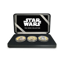 More details for star wars official limited edition collectable droid commemorative coin box set