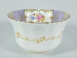 Antique Coalport Lilac Batwing Sugar Bowl Y2665 Floral Bouquet England Set