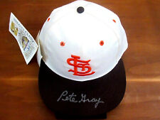 PETE GRAY ST. LOUIS BROWNS FIRST ONE ARMED PLAYER SIGNED AUTO ROMAN CAP HAT JSA