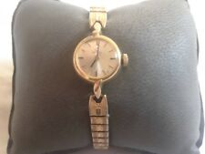 Womens WATCH Ladies OMEGA VINTAGE Windup Stretch Band WORKING 14 K gold filled