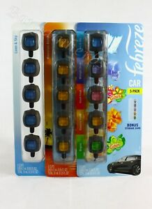 5ct Febreze Car Vent Clips Air Freshener 10ml New Sealed Free Domestic Shipping
