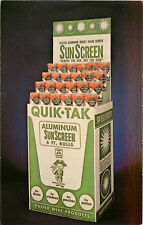 Advertising Postcard Quik Tak Insect Sun Screen Tuscaloosa AL Phifer Wire