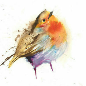 Limited Print of CUTE ROBIN original watercolour by HELEN APRIL ROSE   296