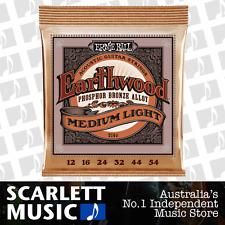 Ernie Ball 2146 Earthwood Phosphor Bronze Medium Light Acoustic Strings *NEW*