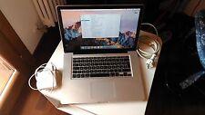 "Apple MacBook Pro 15.4"" Early 2011 2.0 GHz Core i7 16GB RAM 500GB SDD"