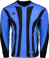 Admiral Bayern ADULT Padded Elbow Soccer Goalie Jersey, Italy Blue / Black