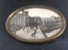 Antique Victorian Brass Photograph BRIDLINGTON QUAY Boaks Studios Old Town Hall
