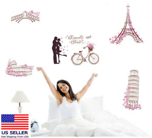 PARIS EIFFEL TOWER DREAM Wall Decoration Removable Sticker Room House Decor.