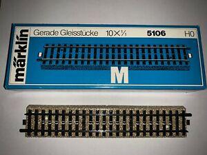 "Marklin 5106 ""M"" Straight Track (10 pieces). NIB"